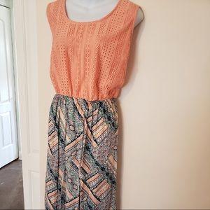 2X Faded Glory Knit Maxi Dress